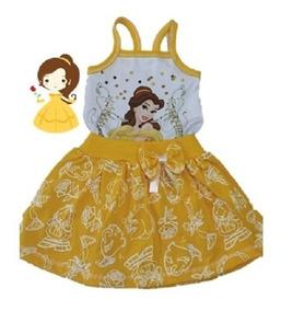 Vestido Infantil Bela E A Fera - Roupa/ Fantasia