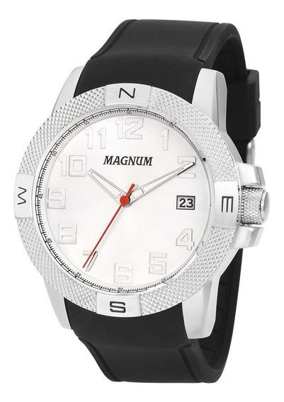 Relógio Magnum Kit Masculino Brinde Pulseira Couro Ma34870d