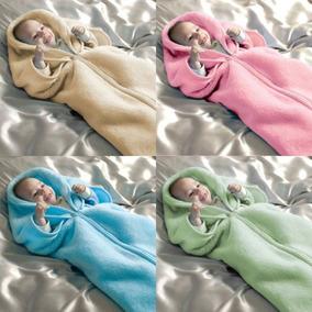 Bebê Manta Saco De Dormir Cobertor Azul, Rosa, Bege Ou Verde