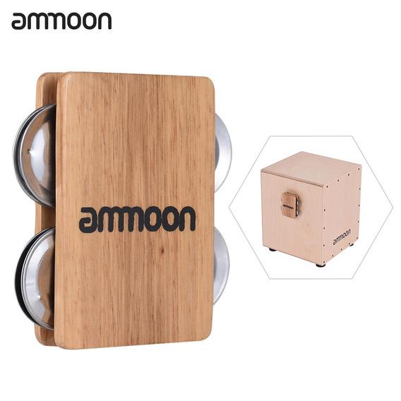 3*ammoon Cajon Box Tambor Companion Acessrio 4-sino Do Tin