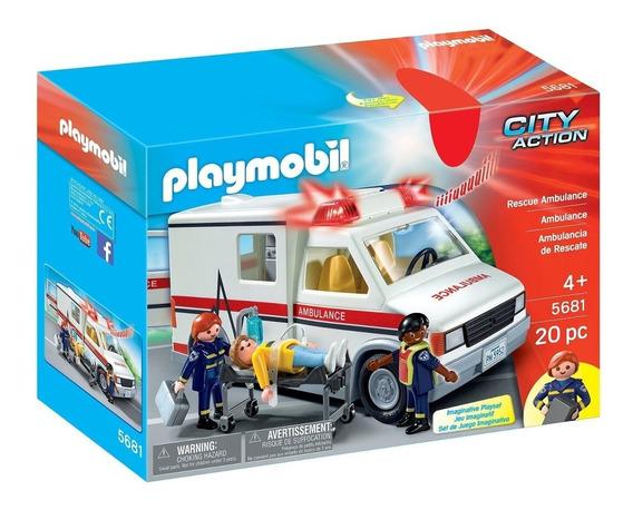 Brinquedo Playmobil Carrinho Infantil Ambulância - Sunny