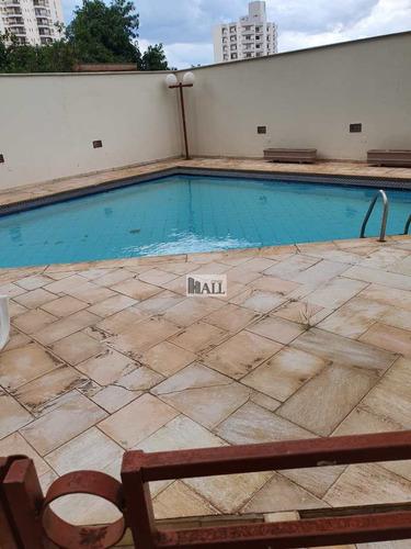 Apartamento À Venda No Centro Com 3 Quartos Em Rio Preto - V7852