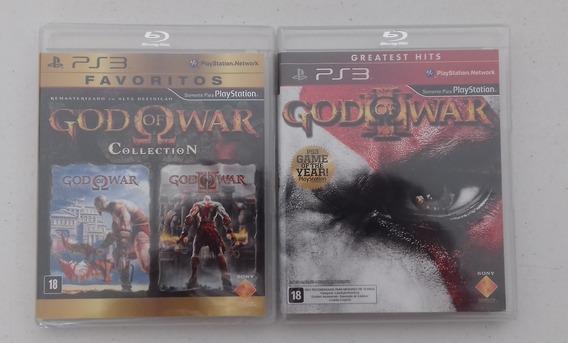 Combo God Of War Collection + God 3 - Mídia Física Ps3 Novos