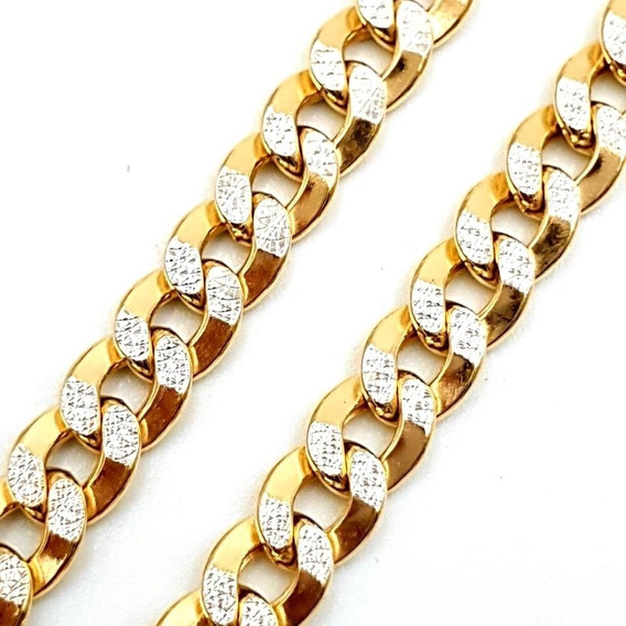 Cadena Para Hombre Gruesa Oro 10k Cubana 55 Cm / 6 Mm