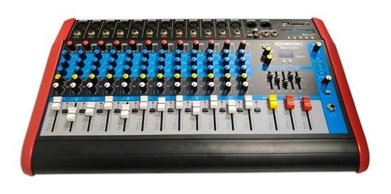 Mesa De Som 12 Canais Soundvoice Ma1230x 3 Vias Bluetooh