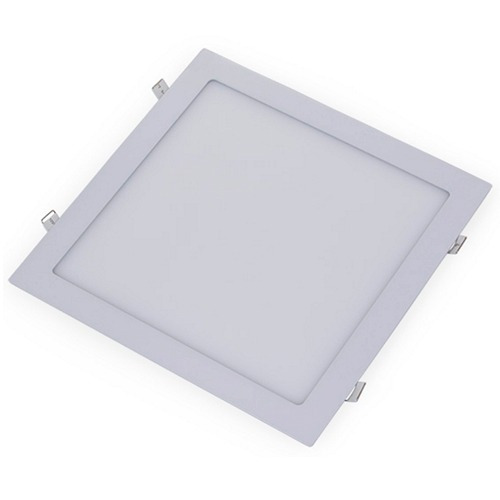 Kit 10 Peças Luminária Plafon Led 24w De Embutir 30x30cm