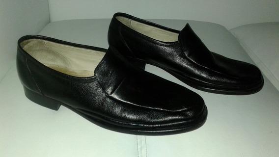Zapatos Mocasin 43 Hombre Cuero Pasqualini Negro Impecables