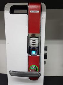 Fechadura Eletrônica Biométrica Prime Couro - Beluni