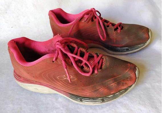 Zapatillas Olimpykus Mujer T39 Muy Usadas Fucsia