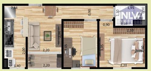 Imagem 1 de 8 de Apartamento Com 2 Dormitórios À Venda, 39 M² Por R$ 198.000,00 - Sacomã - São Paulo/sp - Ap3745