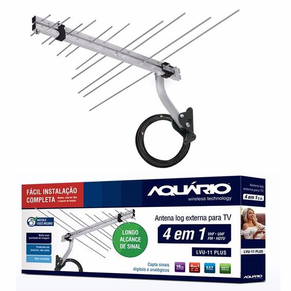 Antena Externa Digital Lvu-11 Plus Aquário 16mts Cabo