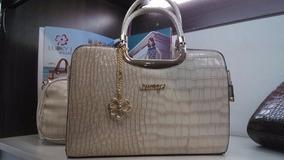 (dois Bolsas)bolsa Feminina Envernizada Social Excutivo Luxo