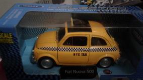 Miniatura Fiat 500 Taxi Abre Portas Pneus De Borracha Novo !