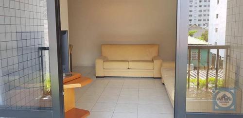 Apartamento Com 3 Dormitórios À Venda, 120 M² Por R$ 640.000,00 - Pompéia - Santos/sp - Ap4822