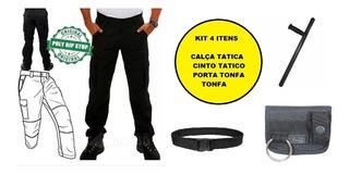 Calça Tática + Cinto Tatico + Tonfa E Porta Tonfa - 4 Itens