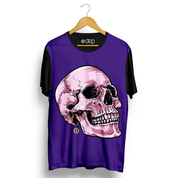 Camiseta Dep Crânio Roxo