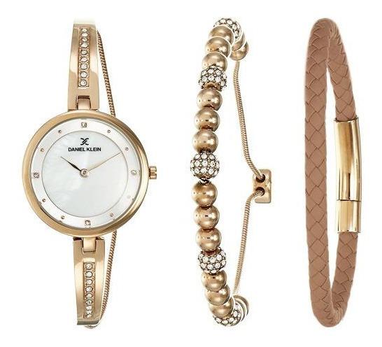 Relógio Analógico Daniel Klein Gift Set Dk12099-1 + Pulseira