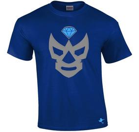 Playera Lucha Libre Diamante Azul By Tigre Texano Designs