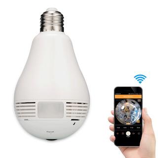 Camara Foco Espia Vigilancia 360° Wifi Para Celulares Envio