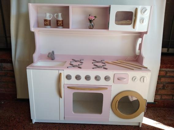 Juego Cocina De Juguete Niños Nena Infantil Madera
