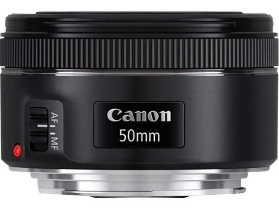 Lente Canon Objetiva Ef 50mm F/ 1.8 Stm Original Nf+garantia