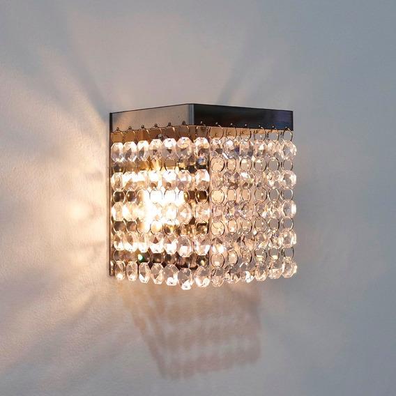 Arandela Parede Cristal P/ Banheiro Quarto Interna M2301