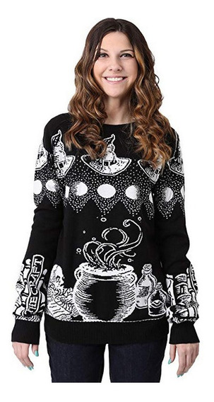 Ugly Sweater Unisex Sueter Bruja Negro Mediano