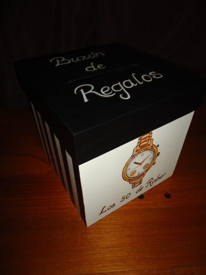 Caja Regalo Cumpleaños 40-50-60 Personalizada Pintada A Mano