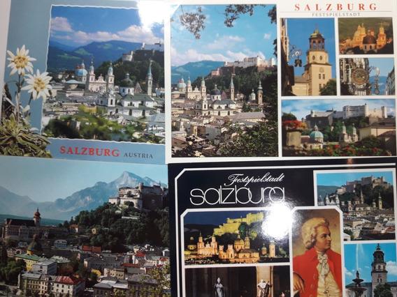 Lote 4 Postales Si Usar De Salzburgo (austria)