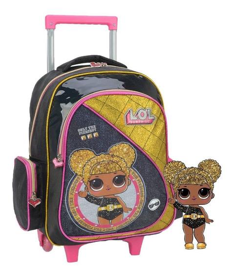 Mochila Escolar Infantil Menina Boneca Lol Dourada Top 2020