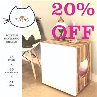 Mueble Sanitario Para Gatos - ( Patas Muebles )