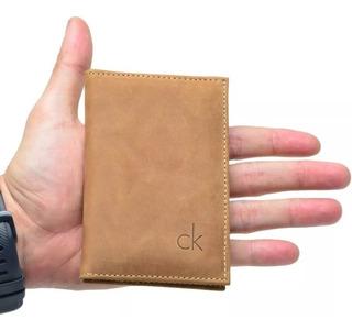 Carteira Porta Cartão Para Cnh,rg,cédulas,cartões Couro 010