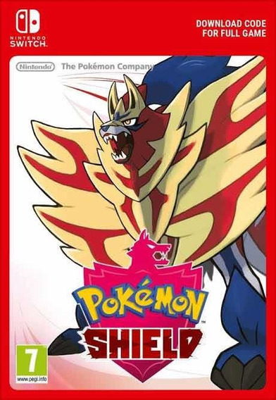 Pokémon Shield - Nintendo Switch Código Eshop Sem Juros