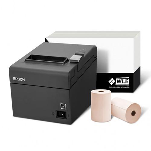 Kit Impressora Epson Tm-t20 Usb E Bobina 80x40 C Nf