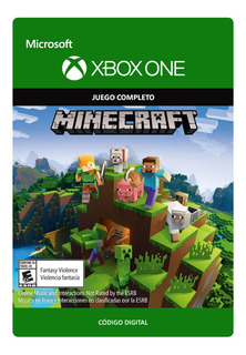 Minecraft Xbox One Codigo Digital Original Juego Completo