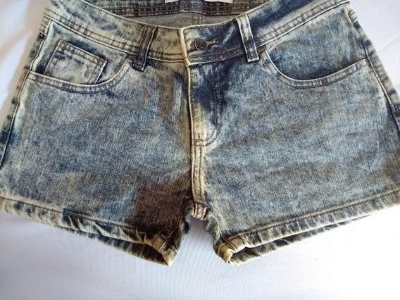 Shorts Em Jeans Marmorizado Ref 201