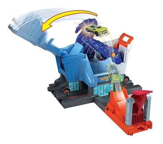 Pista Hot Wheels Ataque Do T- Rex Na Mercearia