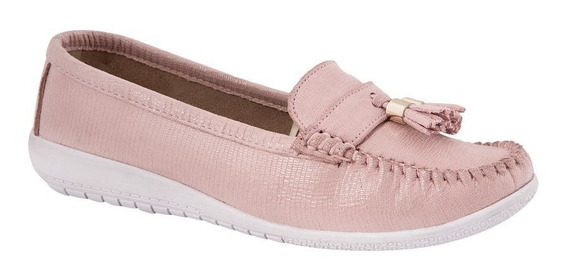 Zapato Mocasín Confort Rosa Mujer Shosh 179088 Antiderrapant