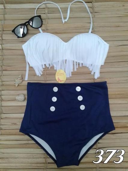 Biquini Franja E Calcinha Hot Pants Cintura Alta 0054