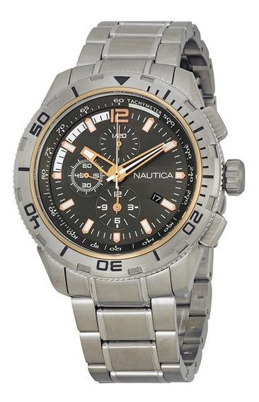 Nautica Nst 101 Chrono Stainless Steel Bracelet A24550g