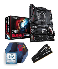 Kit Intel Core I9 9900k + Z390 Gaming X + 16gb 2400mhz