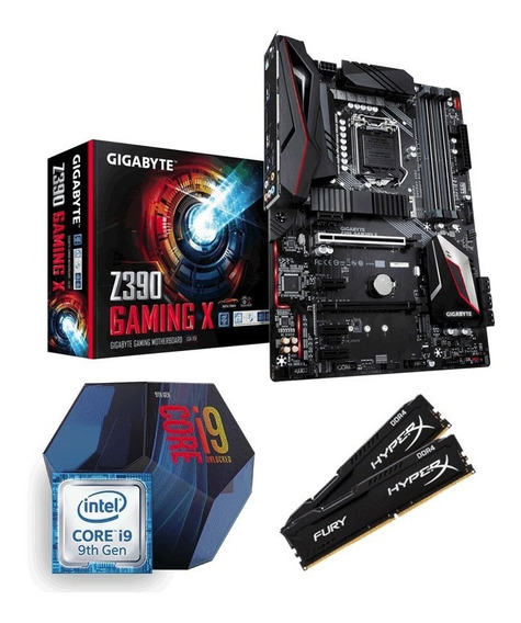 Kit Intel Core I9 9900k + Z390 Gaming X + 16gb 2400mhz C/nfe