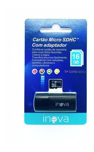 3 Cartão De Memoria Micro Sd 16gb + Adaptador Atacado