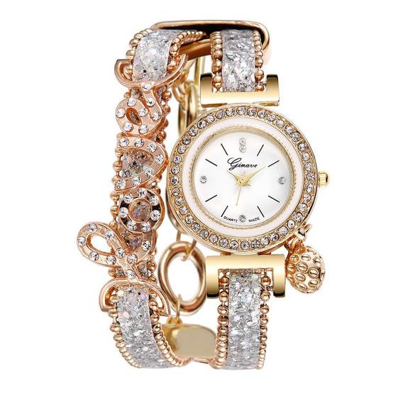 Relógio Pulseira De Couro De Luxo De Quartzo