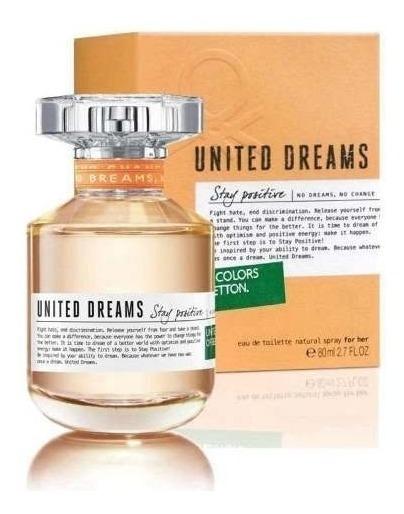 Perfume Benetton Dreans Stay Positive Edt 80 Ml Fem Original