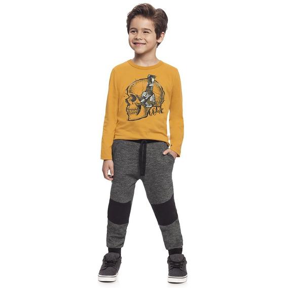 Camiseta Infantil Alakazoo Amarelo 60544