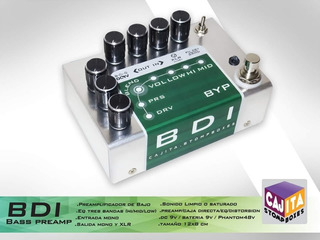 Bdi Mini -preamplificador Bajo - Sansamp - Cajita Stompboxes