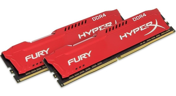 Memória 16gb ( 8gb X 2 ) Ddr4 3466mhz Kingston Hyperx Fury