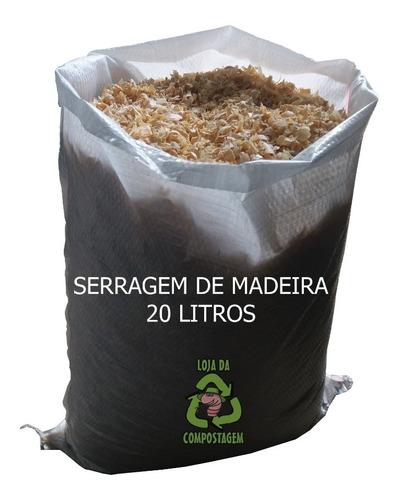 Serragem De Madeira-minhocário/composteira 20lts Promoção