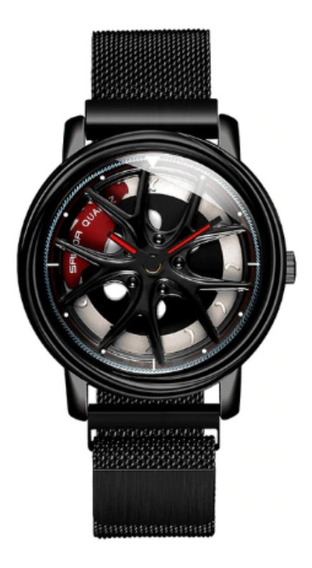 Relógio Masculino Esportivo Premium Amantes Por Carros Roda
